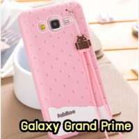 M1415-01 เคสซิลิโคน Samsung Galaxy Grand Prime สีชมพู