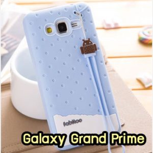 M1415-03 เคสซิลิโคน Samsung Galaxy Grand Prime สีฟ้า