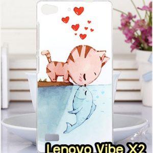 M1326-07 เคสแข็ง Lenovo Vibe X2 ลาย Cat & Fish