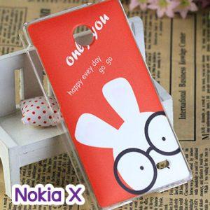 M748-01 เคสแข็ง Nokia X ลาย Rabbit