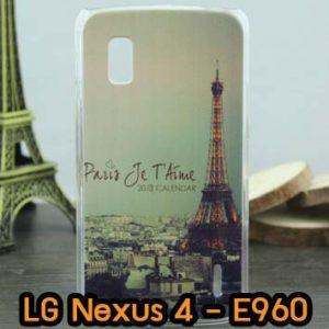 M618-06 เคสแข็ง LG Nexus 4-E960 ลายหอไอเฟล II