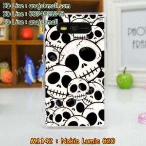 M1142-15 เคสแข็ง Nokia Lumia 820 ลาย Skull II