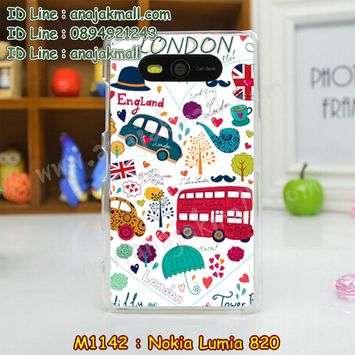 M1142-19 เคสแข็ง Nokia Lumia 820 ลาย London