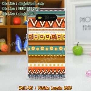 M1142-20 เคสแข็ง Nokia Lumia 820 ลาย Graphic II