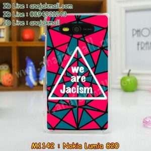M1142-27 เคสแข็ง Nokia Lumia 820 ลาย Jacism