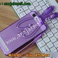 M1690-02 เคสยาง Vivo X5 Max หูกระต่ายสีม่วง