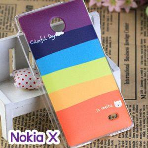 M748-02 เคสแข็ง Nokia X ลาย Colorfull Day