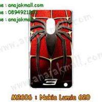 M2606-02 เคสแข็ง Nokia Lumia 620 ลาย Spider