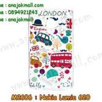 M2606-10 เคสแข็ง Nokia Lumia 620 ลาย London