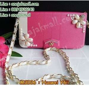 M3006-02 เคสกระเป๋า Huawei Y6ii ลาย Two Flower