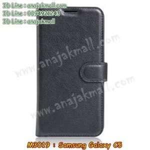 M3019-01 เคสฝาพับ Samsung Galaxy C5 สีดำ