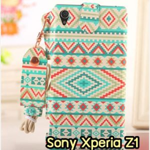M963-05 ซองหนัง Sony Xperia Z1 ลาย Graphic VII