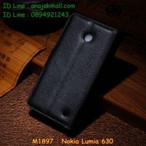 M1897-06 เคสฝาพับ Nokia Lumia 630 สีดำ