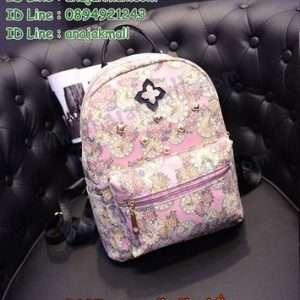 B105-03 กระเป๋าเป้แฟชั่น สีชมพู