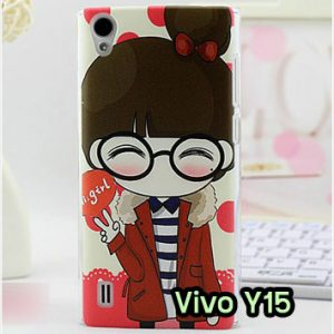 M1210-12 เคสแข็ง Vivo Y15 ลาย Hi Girl