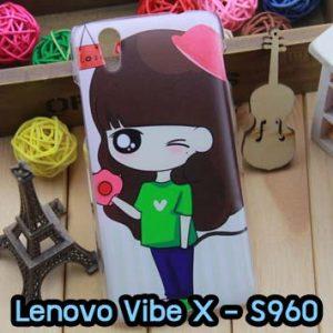 M634-06 เคสแข็ง Lenovo Vibe X ลาย Rosy