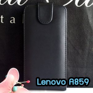 M1089-02 เคสหนังเปิดขึ้น-ลง Lenovo A859 สีดำ