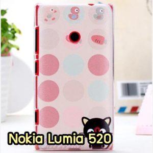 M912-01 เคสแข็ง Nokia Lumia 520 ลาย Black Cat