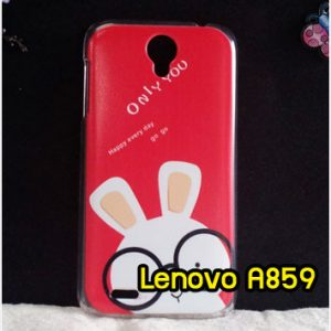 M1227-03 เคสแข็ง Lenovo A859 ลาย Red Rabbit