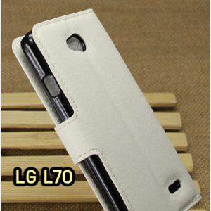 M1414-05 เคสฝาพับ LG L70 สีขาว