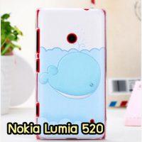 M912-07 เคสแข็ง Nokia Lumia 520 ลายปลาวาฬ