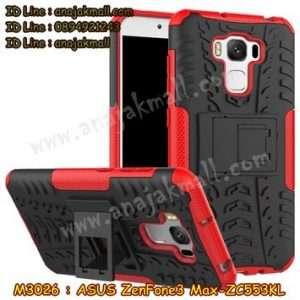 M3026-01 เคสทูโทน ASUS ZenFone3 Max-ZC553KL สีแดง