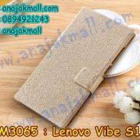 M3065-02 เคสฝาพับ Lenovo Vibe S1 สีทอง