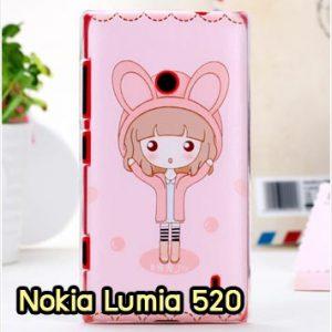 M912-08 เคสแข็ง Nokia Lumia 520 ลาย Fox