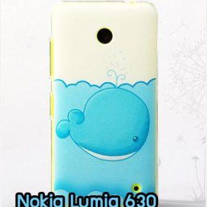 M827-04 เคสแข็ง Nokia Lumia 630 ลายปลาวาฬ