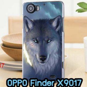 M705-04 เคสแข็ง OPPO Finder X9017 ลาย Wolf