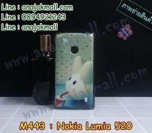 M443-01 เคสแข็งขอบดำ Nokia Lumia 520 ลาย Fufu