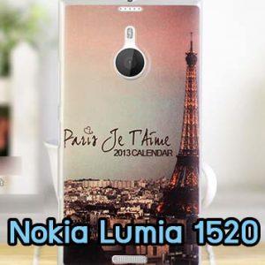 M666-02 เคสแข็ง Nokia Lumia 1520 ลายหอไอเฟล