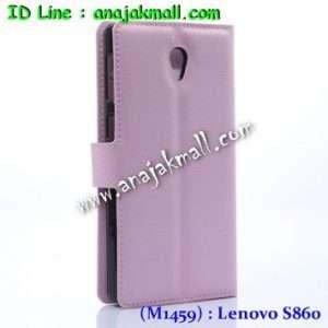 M1459-03 เคสฝาพับ Lenovo S860 สีชมพู