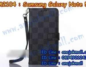 M2104-01 เคสฝาพับ Samsung Galaxy Note 5 สีดำ