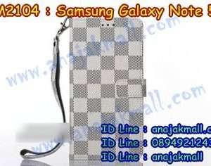 M2104-02 เคสฝาพับ Samsung Galaxy Note 5 สีขาว