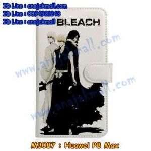 M3087-17 เคสหนังฝาพับ Huawei P8 Max ลาย Bleach 02