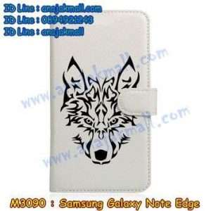 M3090-10 เคสหนังฝาพับ Samsung Galaxy Note Edge ลาย Wolf II