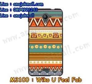 M3100-04 เคสยาง Wiko U Feel Fab ลาย Graphic II