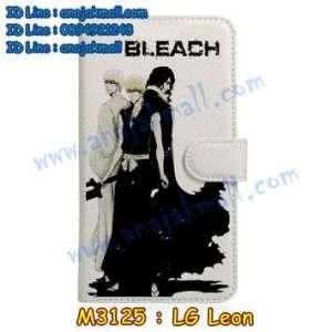 M3125-17 เคสหนังฝาพับ LG Leon ลาย Bleach 02