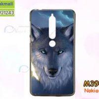 M3909-10 เคสยาง Nokia 6-2018 ลาย Wolf