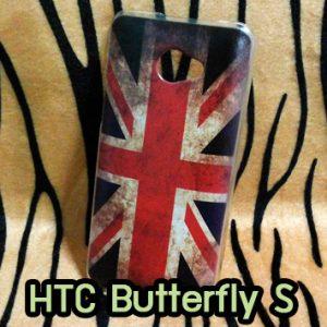 M687-03 เคส HTC Butterfly S ลาย Flag I