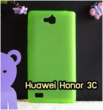 M1244-03 เคสยางใส Huawei Honor 3C สีเขียว