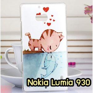 M952-09 เคสแข็ง Nokia Lumia 930 ลาย Cat & Fish