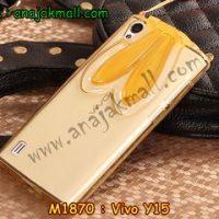 M1870-02 เคสยาง Vivo Y15 หูกระต่าย สีส้ม