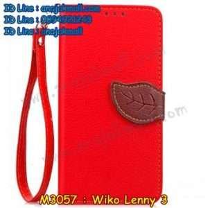 M3057-03 เคสไดอารี่ Wiko Lenny 3 สีแดง