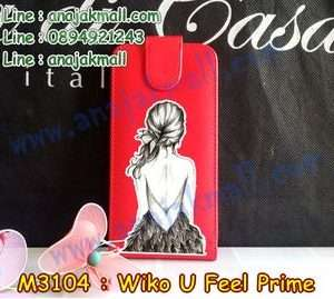 M3104-06 เคสฝาพับ Wiko U Feel Prime ลาย Women