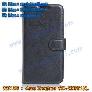 M3128-01 เคสฝาพับ Asus Zenfone GO-ZB551KL สีดำ