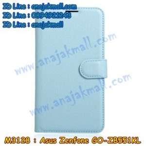 M3128-04 เคสฝาพับ Asus Zenfone GO-ZB551KL สีฟ้า