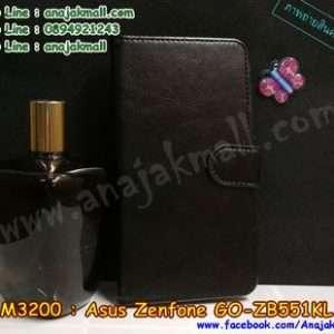 M3200-02 เคสฝาพับไดอารี่ Asus Zenfone GO-ZB551KL สีดำ