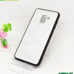 M3844-02 เคสกันกระแทกอะคริลิคพรีเมี่ยม Samsung Galaxy A8-2018 สีขาว